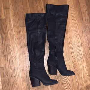 Aldo Leather Over the Knee Boots